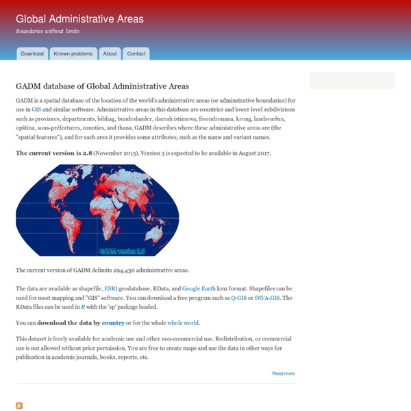Global Administrative Areas