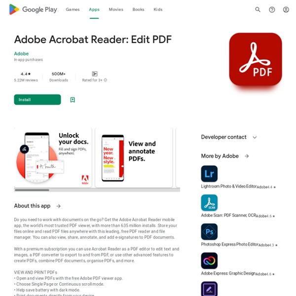 Adobe Acrobat DC – PDF Reader – Android-appar på Google Play
