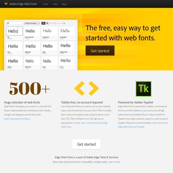 Adobe Edge Web Fonts
