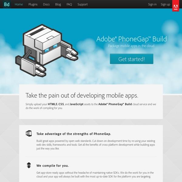 Adobe PhoneGap Build