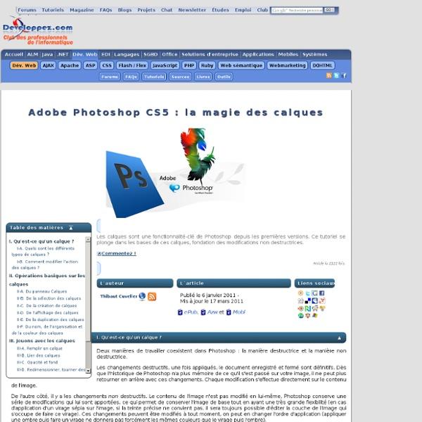 Adobe Photoshop CS5 : la magie des calques