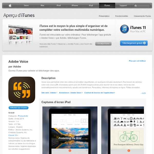 Adobe Voice (sur iPad)