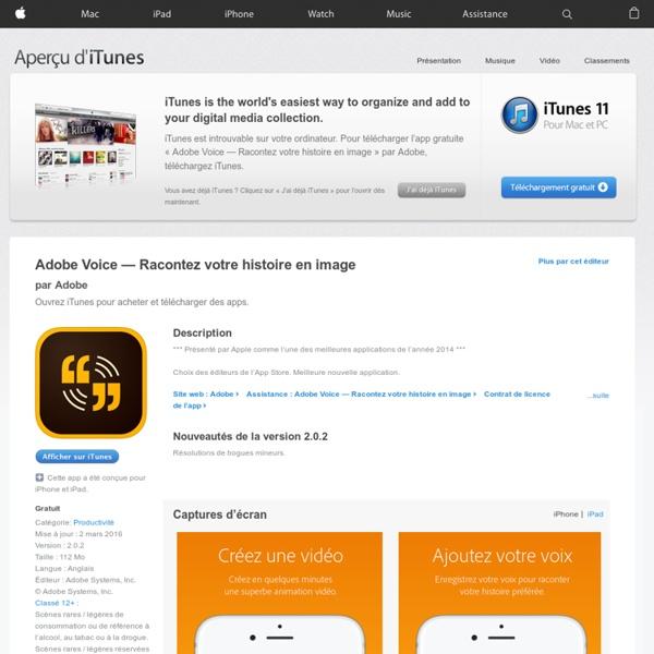 Adobe Voice — Racontez votre histoire en image dans l'App Store