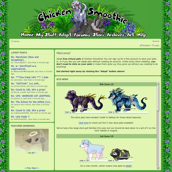 Adopt free virtual pets! - Chicken Smoothie