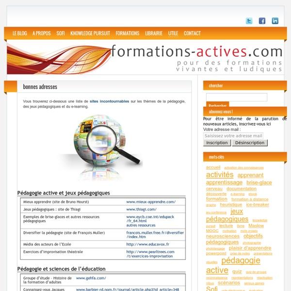 De bonnes adresses pour la pédagogie active et le e-learning