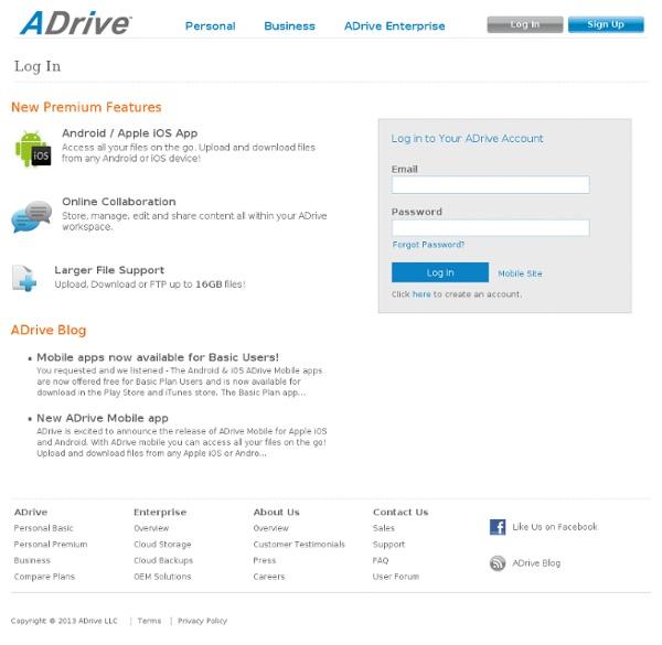 50GB Free Online Storage: ADrive