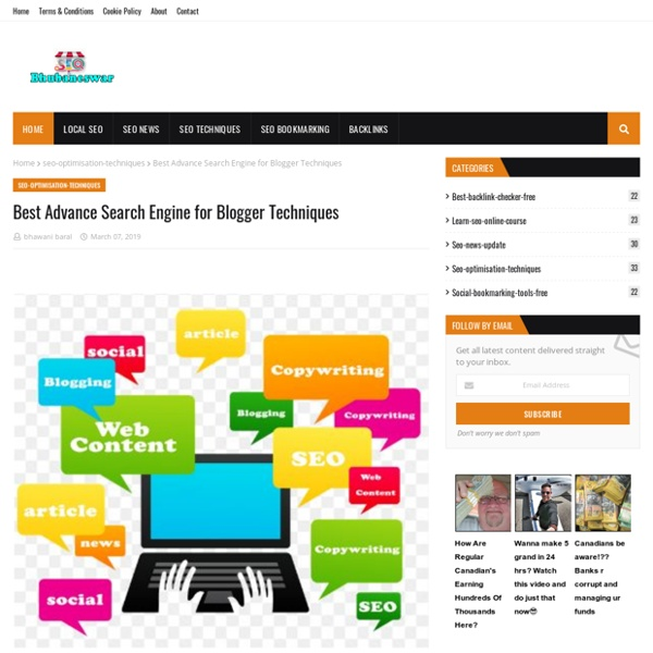 Best Advance Search Engine for Blogger Techniques
