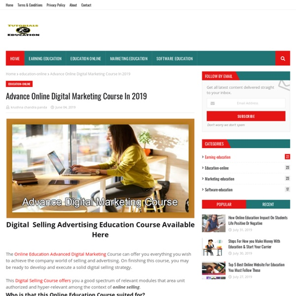 Advance Online Digital Marketing Course In 2019