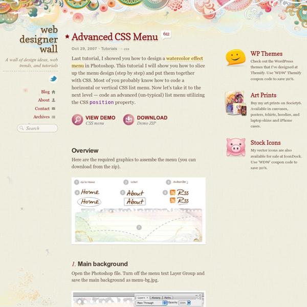 Advanced CSS Menu