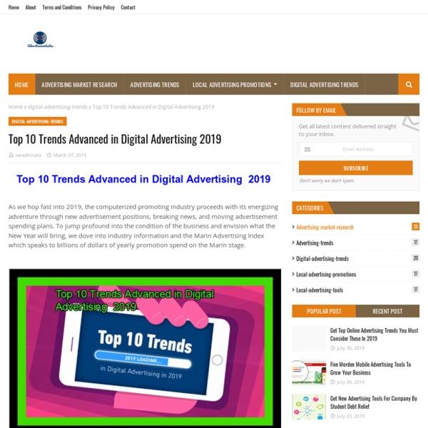 Top 10 Trends Advanced in Digital Advertising 2019