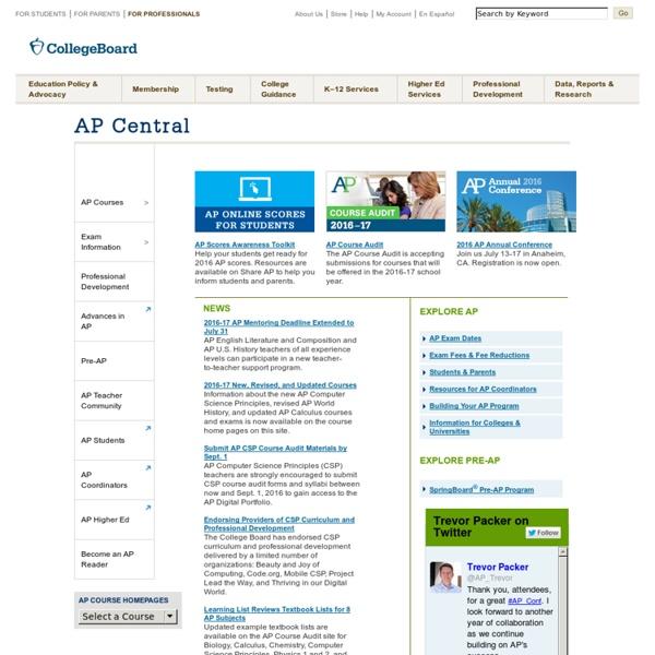 Advanced Placement Scores, Courses & Exam Center