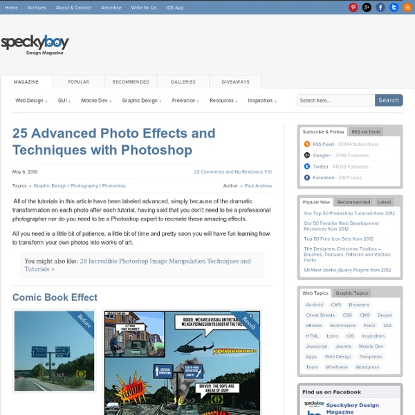 25 Advanced Photo Effects and Techniques with Photoshop :Speckyboy Design Magazine