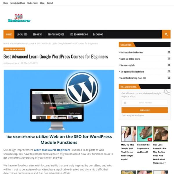 Best Advanced Learn Google WordPress Courses for Beginners