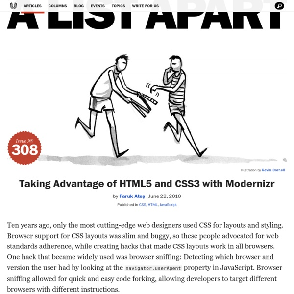 Taking Advantage of HTML5 and CSS3 with Modernizr