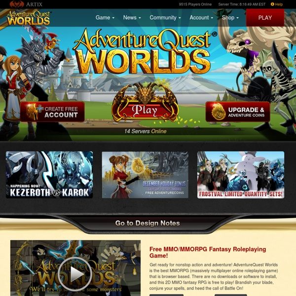 AdventureQuest Worlds - Free MMORPG browser game - free to play