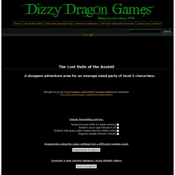 Adventuregenerator:gen [Dizzy Dragon Games]
