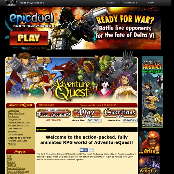 Adventure Quest - Play an online RPG for free, no games to download