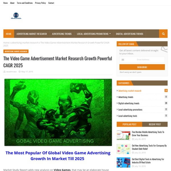 The Video Game Advertisement Market Research Growth Powerful CAGR 2025