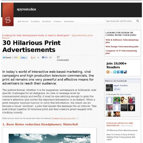 30 Hilarious Print Advertisements