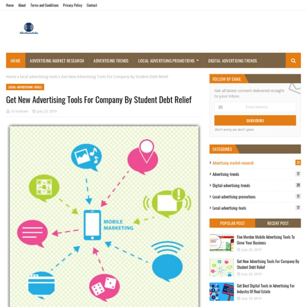 Get New Advertising Tools For Company By Student Debt Relief