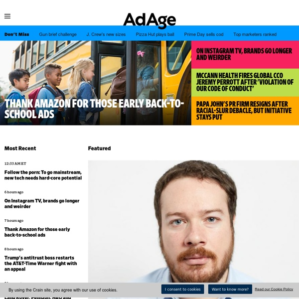 Advertising Age - Advertising Agency & Marketing Industry News - AdAge