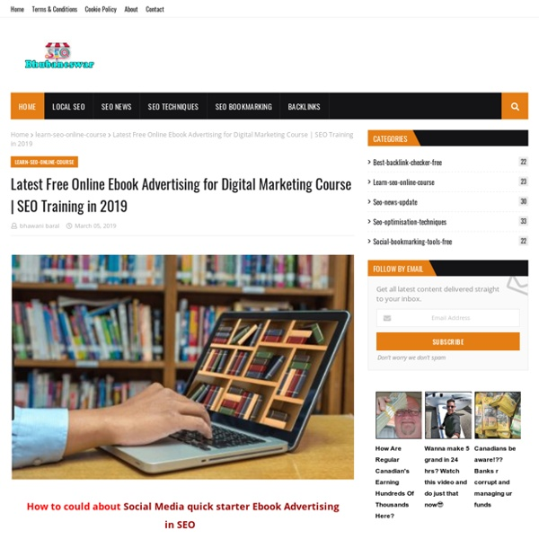 Latest Free Online Ebook Advertising for Digital Marketing Course