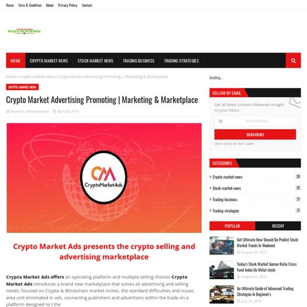 Crypto Market Advertising Promoting