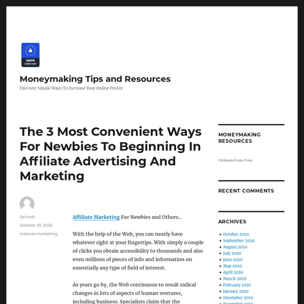 Key Benefits Of Affiliate Marketing
