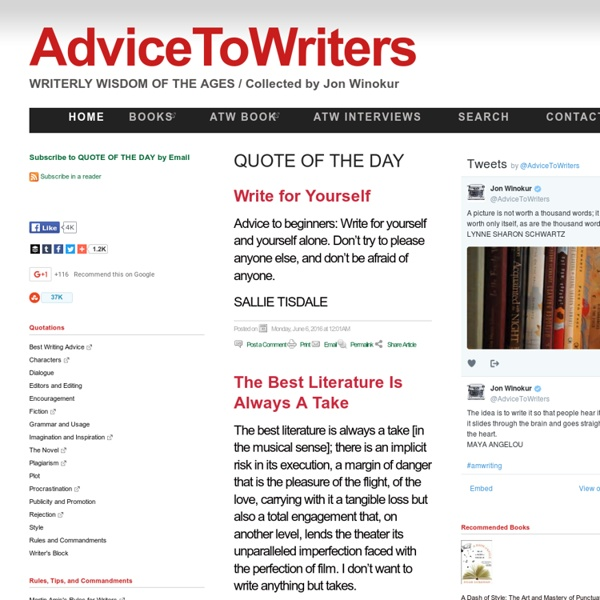 AdviceToWriters - Advice to Writers