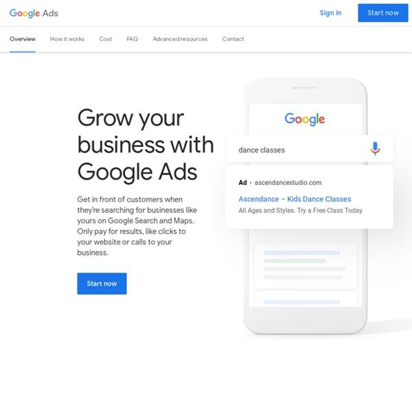 Publicité Google en ligne au paiement par clic (PPC)