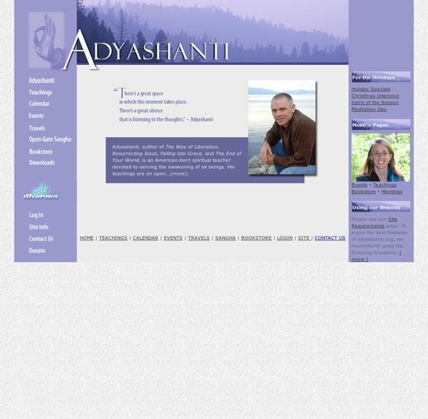 Adyashanti.org Home