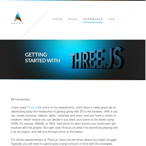Getting Started with Three.js