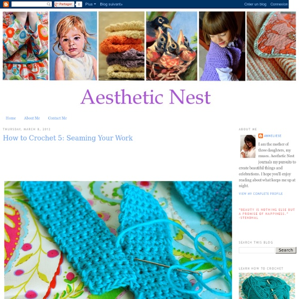 How to Crochet 5: Seaming Your Work