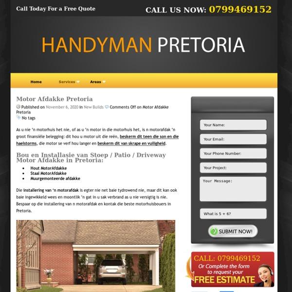 Bou van Motor afdakke pretoria – Handyman