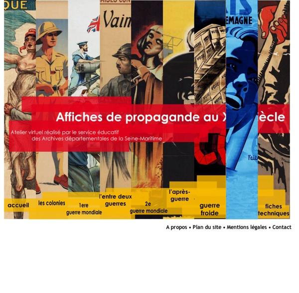Affiches de propagande au cours du XXe siècle - Accueil
