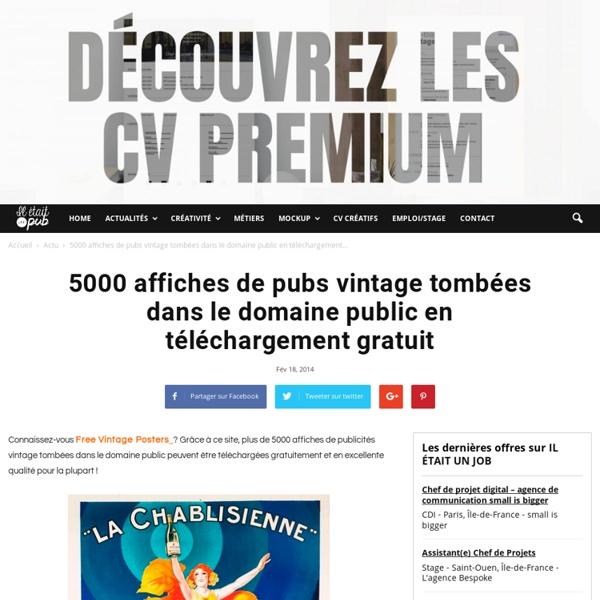 5000 affiches de pubs vintage tombées dans le domaine public en téléchargemen...