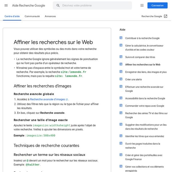 Ponctuation, symboles et opérateurs dans la recherche google