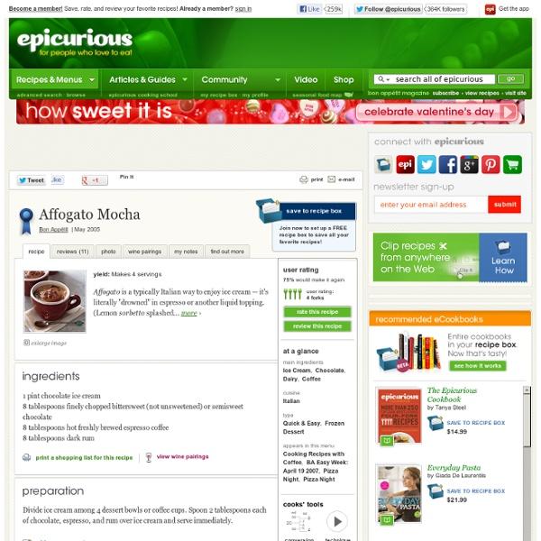 Affogato Mocha Recipe at Epicurious
