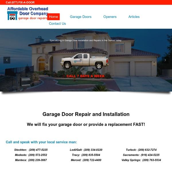 Call (877) FIX-A-Door for Fast Repair