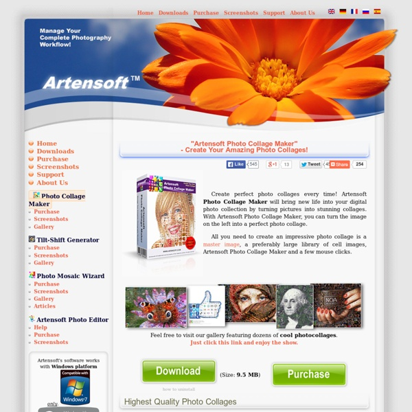 Photo collage maker - Amazing, Affordable and simple photocollage Software. Download Now!