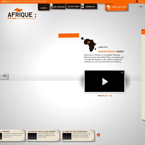 Afrique 50 ans d'indépendance