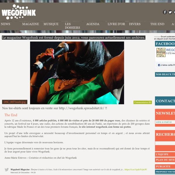 Funk, Soul, Jazz, Latin and Afrogrooves magazine - Agenda, soirée, concert, interviews, chroniques, articles, vidéos, mix, dj