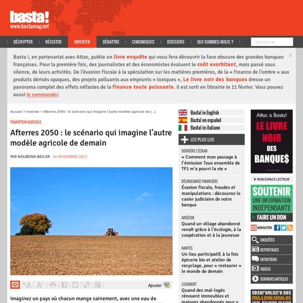 Afterres 2050 : le scénario qui imagine l'autre modèle agricole de demain