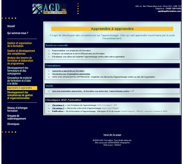 AGD Formation - Apprendre à apprendre