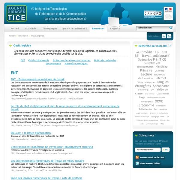 L'Agence nationale des Usages des TICE - Outils logiciels