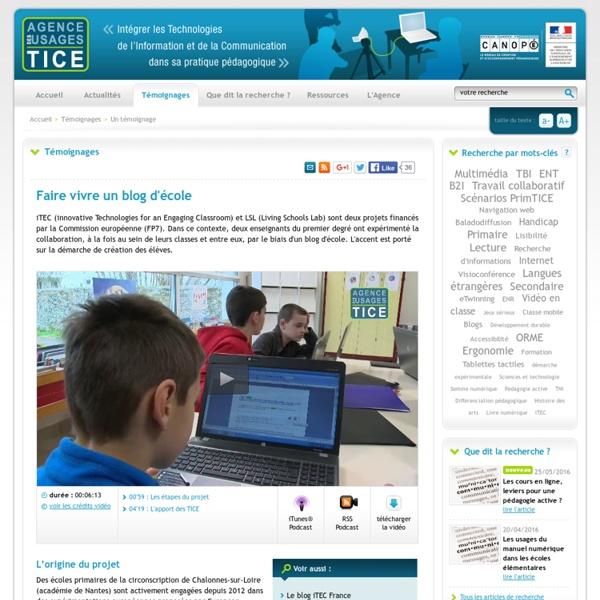Faire vivre un blog d'école