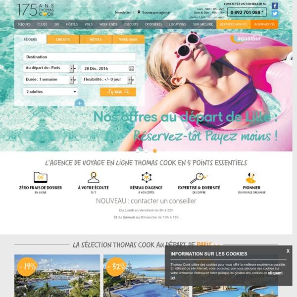 Agence de voyage Thomas Cook en ligne pour réserver vos vacances, voyages, séjours et week-ends