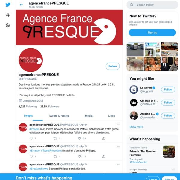 AgencefrancePRESQUE (afPRESQUE)