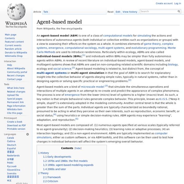 Agent-based model