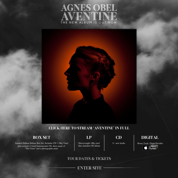 Agnes Obel - Aventine, Out 30th September